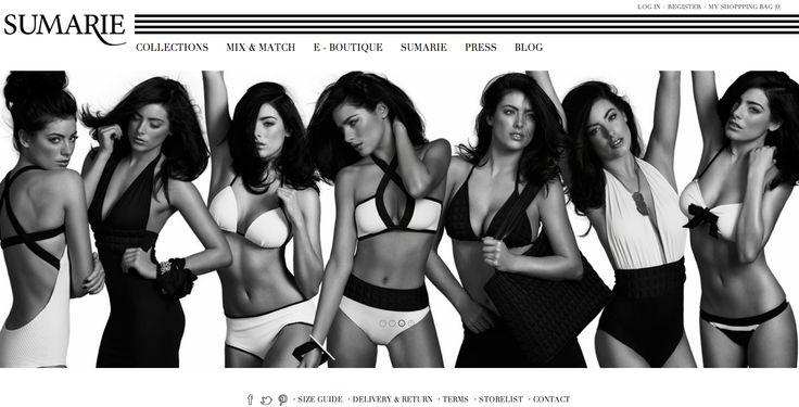 #sumarie #website new #look #black #white #fashion #swimwear  www.sumarie.com