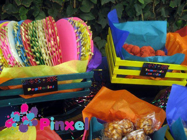 Pinxel, decoración souvenirs: Mesa de dulces mexicanos
