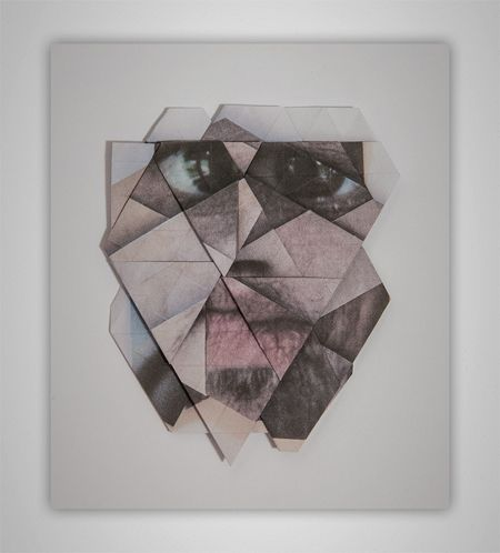 Geometric facial landscapes by Aldo Tolino - Design daily news