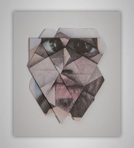 Geometric facial landscapes by Aldo Tolino - Design daily news