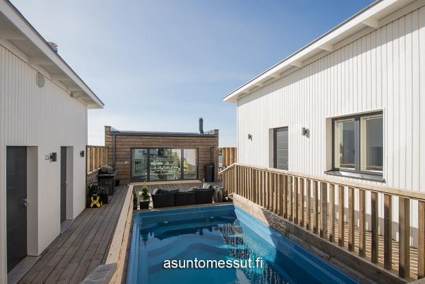 2 Villa Atrium Ojan Rauta - Terassi/uima-allas Kalajoen Loma-asuntomessut