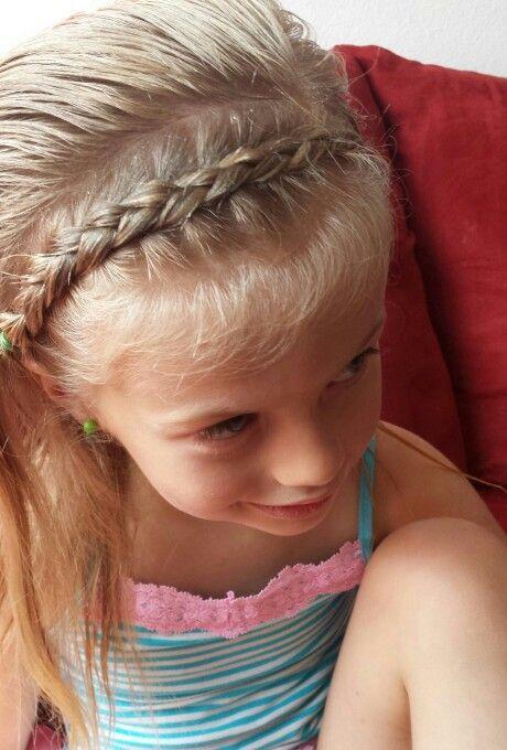Toddler hairstyle, French braid headband, dutch braid.