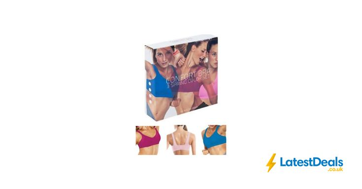 Pack of 3 Seamless Bras Wire Free Stretch Soft Cup Comfort Flexi Crop Top, £5.49 at ebay
