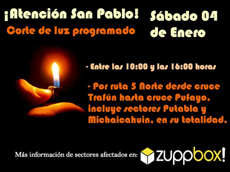 Corte de luz programado en San Pablo