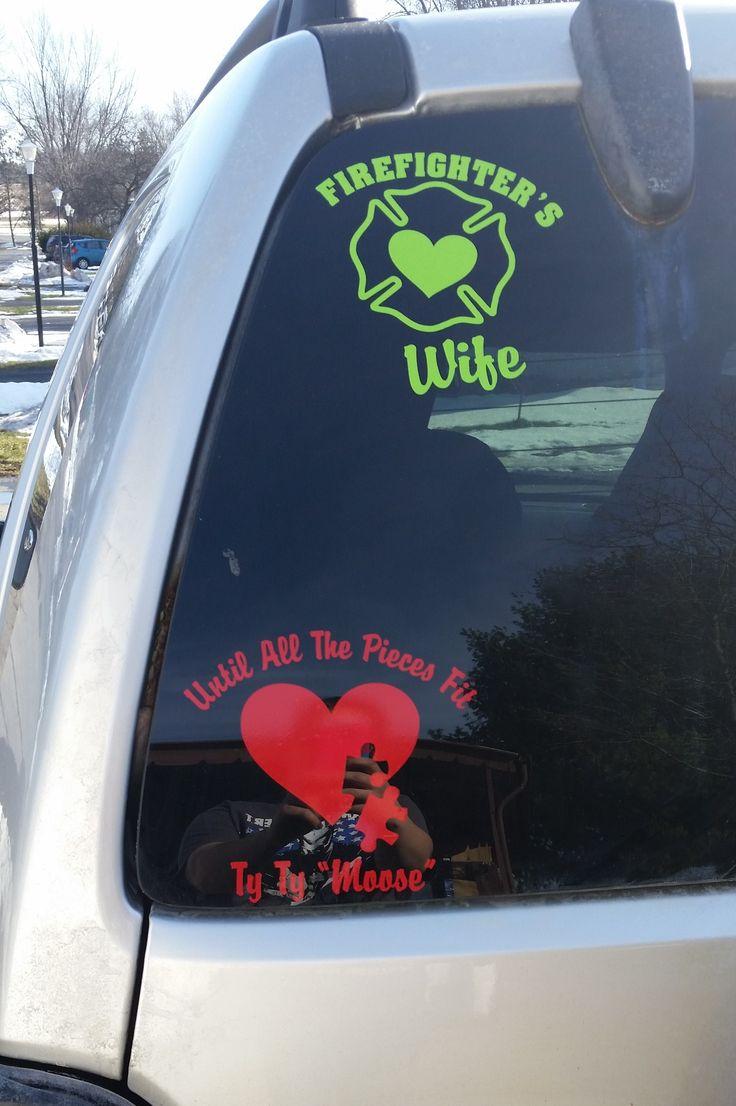 Car sticker design fire - Firefighter S Wife Decal 02