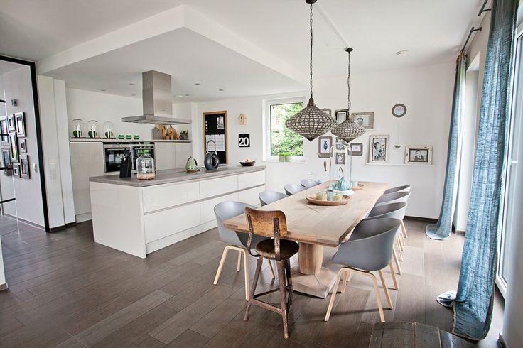 die besten 25 offene wohnk che ideen auf pinterest. Black Bedroom Furniture Sets. Home Design Ideas
