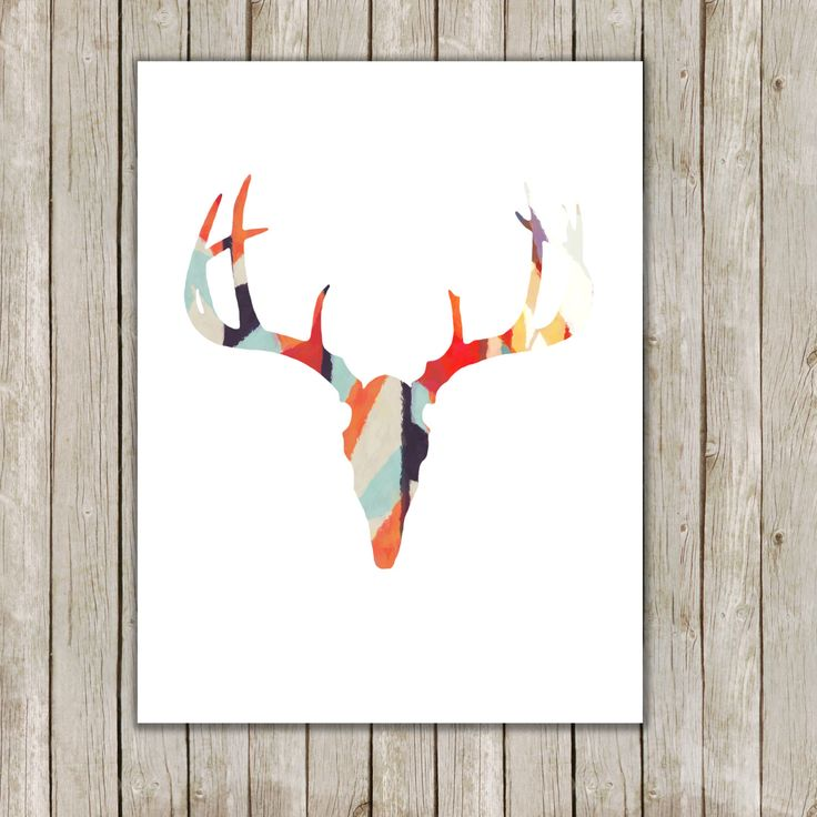 8x10 Antler Art Print, Modern Deer Art Print, Antler Poster Printable, Nursery Art, Home Decor, Poster, Instant Digital Download by twomoonsandafry on Etsy https://www.etsy.com/listing/195197962/8x10-antler-art-print-modern-deer-art