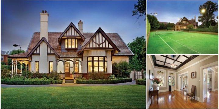 Australian Gothic Tudor Federation Home. Victoria, Australia.