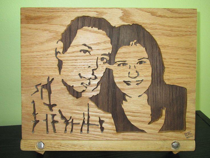 Gueule de bois 4, portrait en chêne.