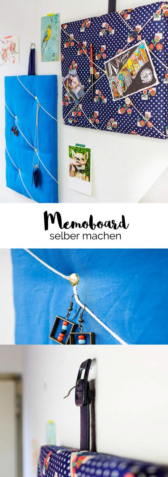 That's how it goes! Create a stylish memo board – instructions in pictures   – Kids