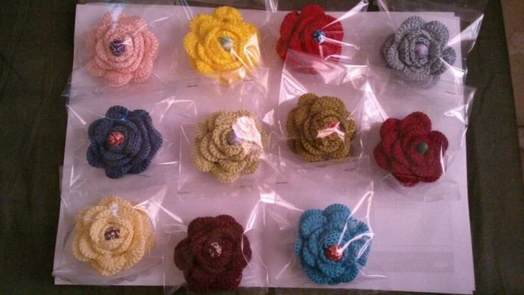My roses....brooches again....