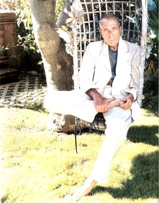 Photo by Darcy Hemley Spin, March 2002  From The Essential Leonard Cohen website.