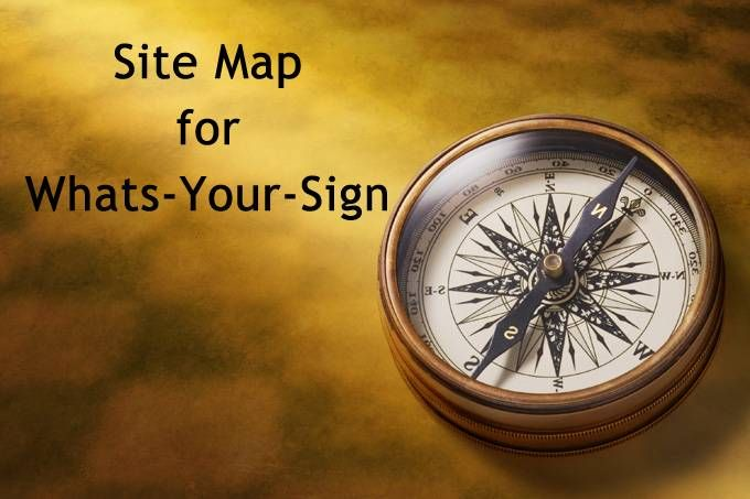 site map for whats-your-sign