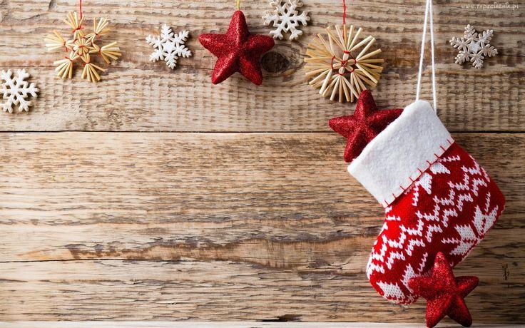 Dekoracja, Świąteczna, Skarpeta, Gwiazdki