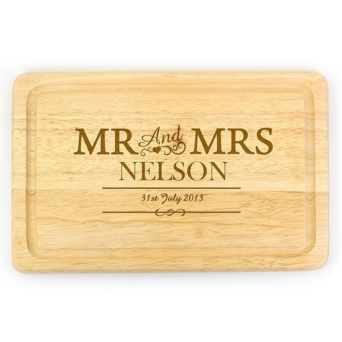 PERSONALISED WOODEN CHOPPING BREAD CHEESE BOARD Wedding Anniversary Gift Idea