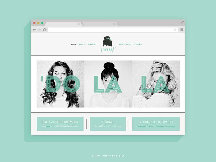 Pouf Blowout Salon // Branding + Design by Hey, Sweet Pea