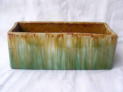31cm x 13cm x 11cm Large John Campbell Planter Green AND Brown Australian Pottery AUS Pottery   eBay