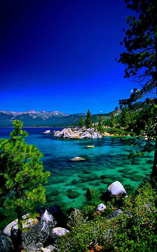 Emerald Bay, South Lake Tahoe, California USA - It's a little north off freeway/highway, but it's so beautiful!!