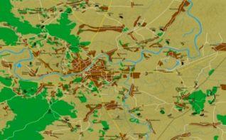 The traditional map of Strohhold Przemyśl