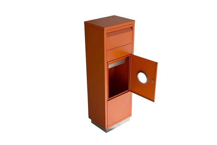 #letterman #standingovation #radius #design #orange #standbriefkasten #briefkasten #paketbriefkasten