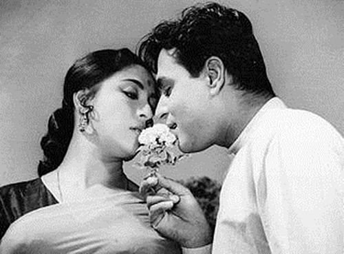 Mala Sinha and Manoj Kumar.