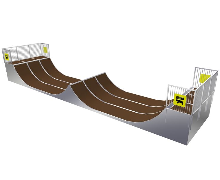 Rhino Ramps 1.5 Halfpipe with Spine 3 Sections