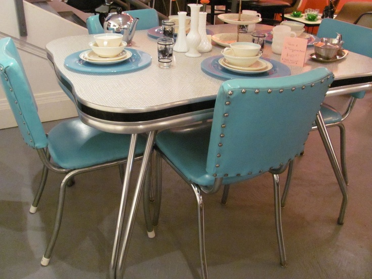 Kitchen chairs retro kitchen tables and chairs for Retro kitchen table and chairs