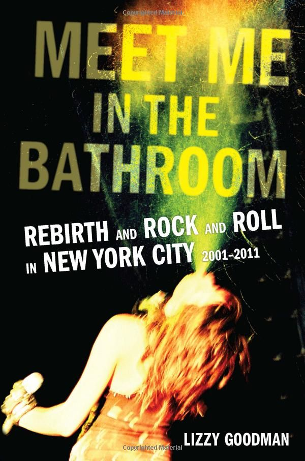 Meet Me In The Bathroom by Lizzie Goodman - Meet Me in the Bathroom: Rebirth and Rock and Roll in New York City 2001-2011, 17Rock journalist Lizzie Goodman records an oral history of the Strokes-led New York City music scene from 2001 to 2011 in this intimate portrait of what she calls the rebirth of rock and roll.