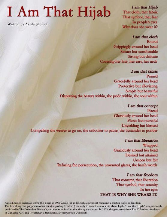 what the hijab really means to a muslim woman. <3 the hijab not only my best accessory but my greatest asset.