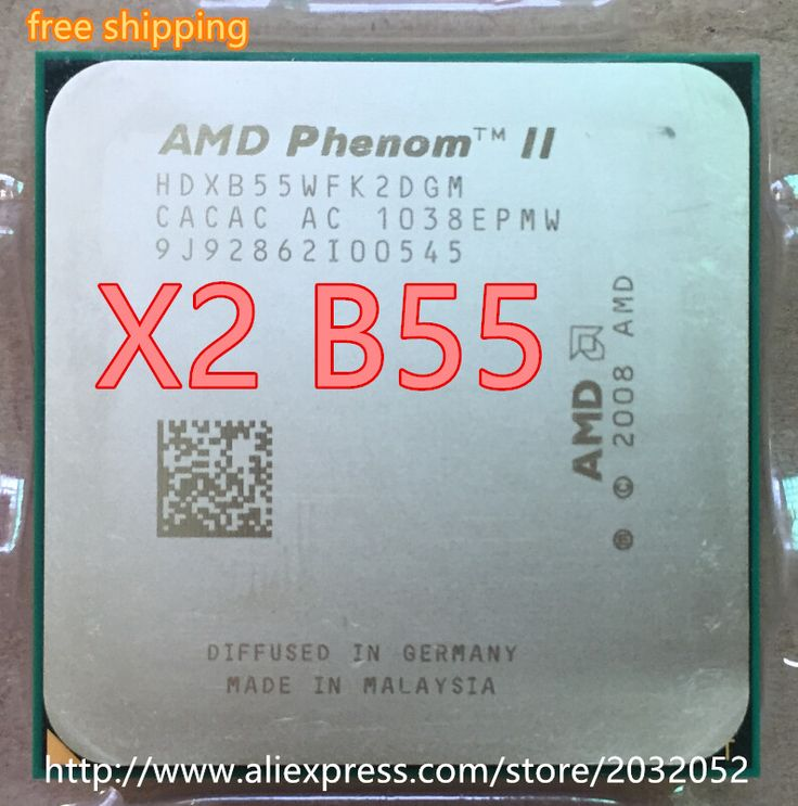 AMD Phenom II X2 B55 CPU Processor Dual-Core (3.0Ghz/ 6M /80W / 2000GHz) Socket am3 am2