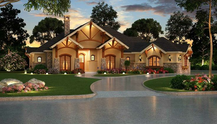Beautiful Single Story Houses: One Story House Design Ideas Exterior