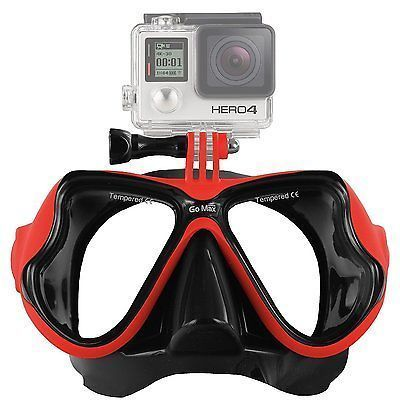 GoMax GoPro ® Scuba Diving Mask compatible for All GoPro ® Hero Red - http://scuba.megainfohouse.com/gomax-gopro-scuba-diving-mask-compatible-for-all-gopro-hero-red/ #scubadivingequipment