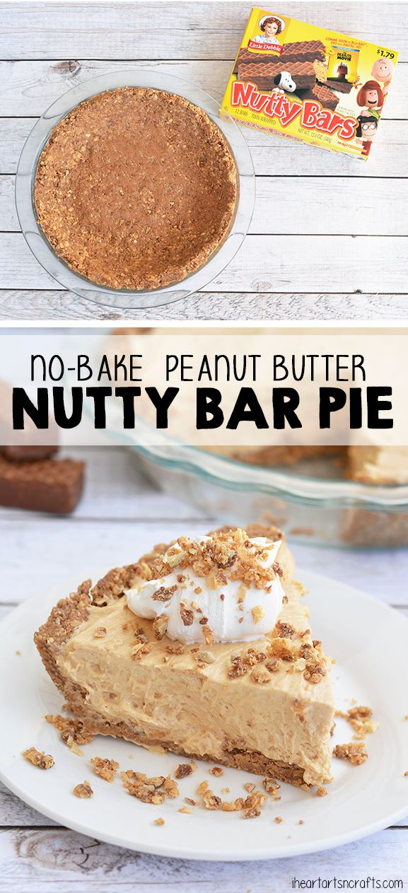 No-Bake Peanut Butter Pie with a delicious Nutty Bar Pie Crust! #SweetMemoriesGiveaway #ad