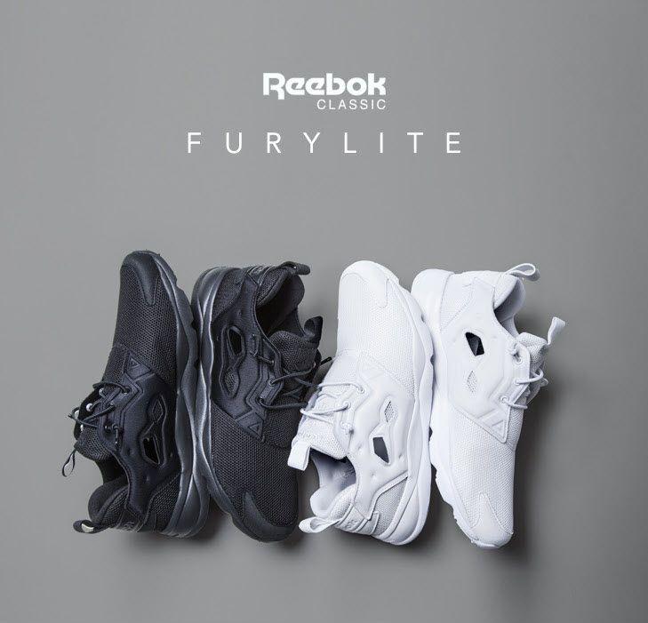 Reebok Furylite - Triple black / Triple white
