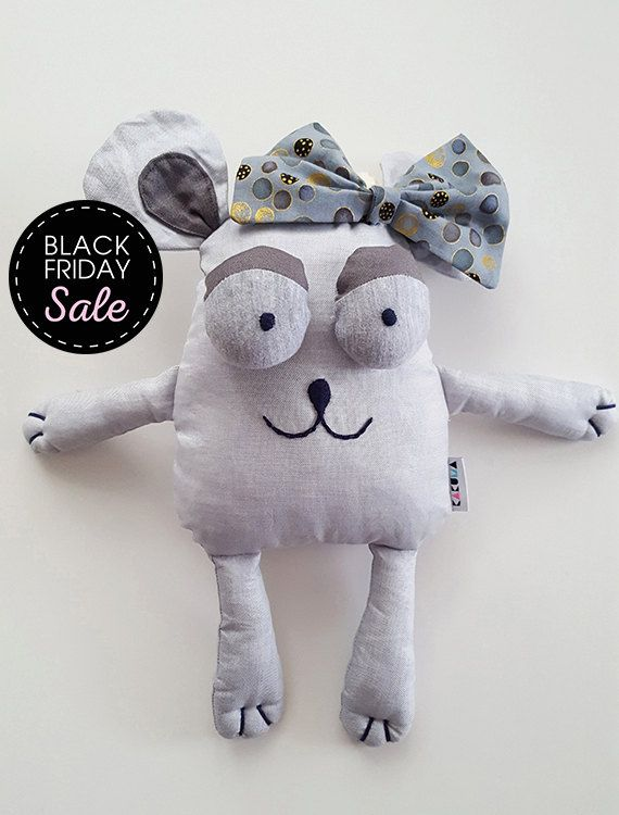 Black Friday Sale -20% off Gray cotton Mouse Princess, Stuffed animals & plushies, christmas and birthday gift, Mouse Toy, Baby Toy, Eco Toy by KAKUMAstore on Etsy