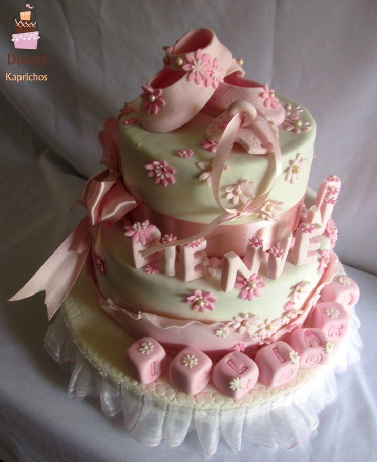 Torta Baby Shower #TortasBabyShower #TortasDecoradas #DulcesKaprichos