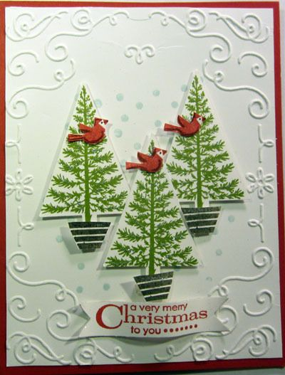 Festival of Trees www.stampingwithlinda.com Check out my Stamp of the Month Kit Program Linda Bauwin – CARD-iologist  Helping you create cards from the heart.