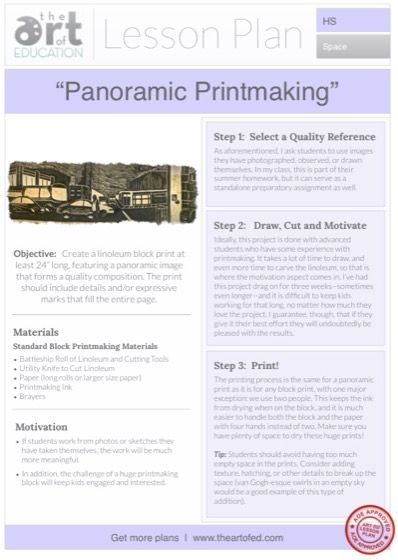 Panoramic Prints: Free Lesson Plan Download