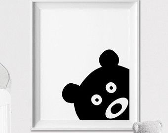 Coniglietto parete arte stampa vivaio d'arte di ArtFilesVicky
