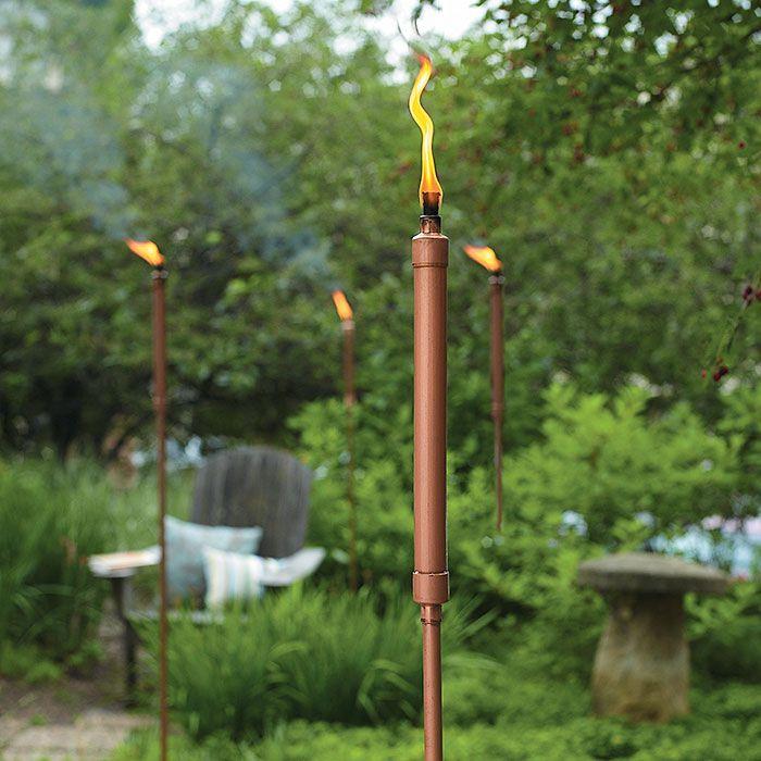 DIY Copper Patio Torch | Garden Gate Magazine