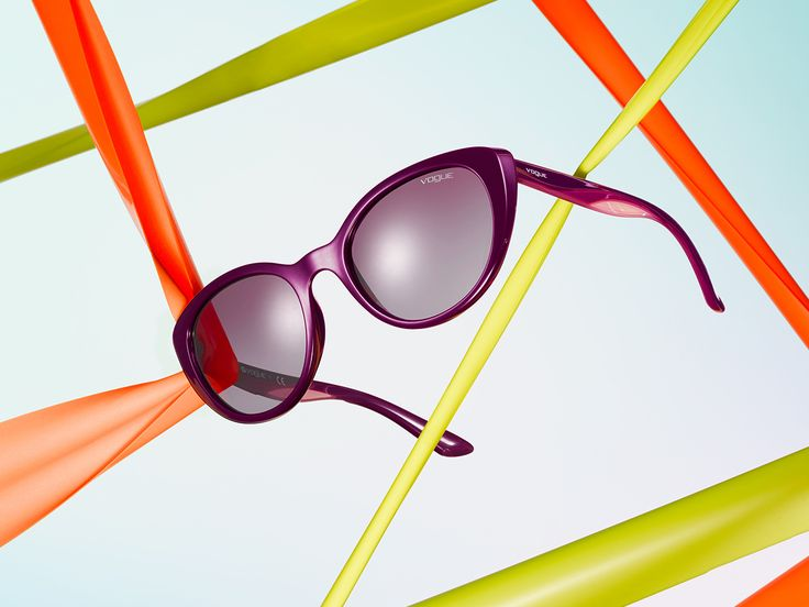 Breaking free from the basic is now in Vogue featuring Rainbow sunglasses.