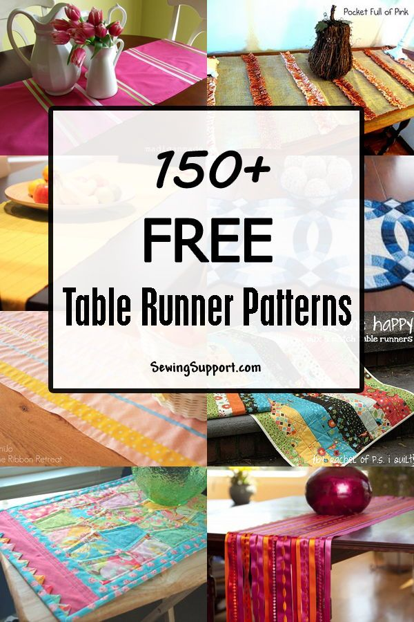 150+ Free Table Runner Patterns | DIY Table Runners