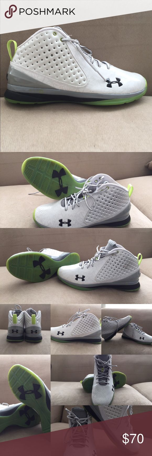 Under Armour Micro G men's Basketball shoe. Brand New never used!!only try on. White and green color size 11. Under Armour Shoes Athletic Shoes