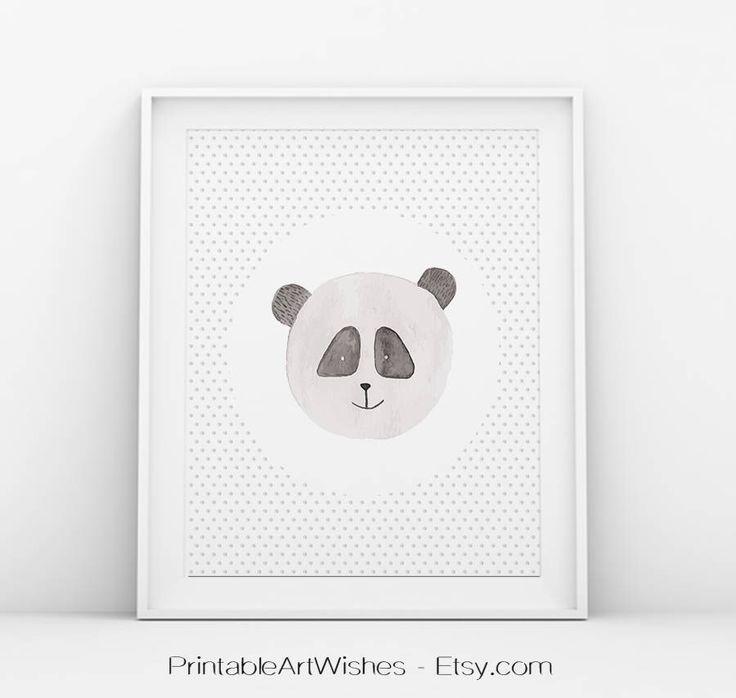 Acuarela animales impresión, Panda de pared arte, acuarela bunny, género neutro vivero decoración, animales lindos, vivero pared animales arte, arte de pared de oso de PrintableArtWishes en Etsy https://www.etsy.com/es/listing/515566756/acuarela-animales-impresion-panda-de