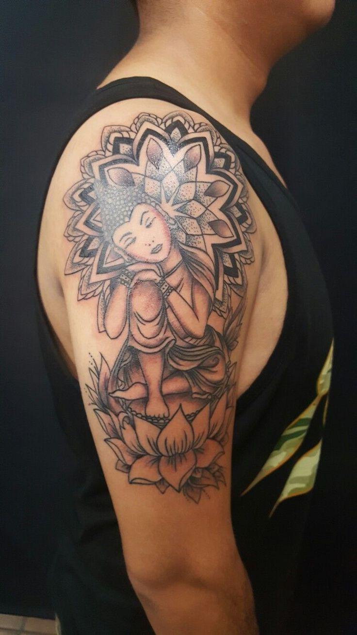 Buddha Tattoo With Flowers On Back Tattoos Chakra Tattoo