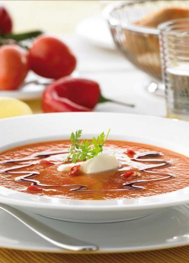 Spaanse paprika-tomatensoep - Njam Tv !
