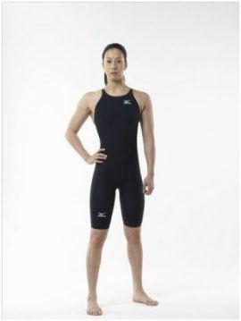 ロンドン五輪当時の「ミズノGX水着」。写真はミズノスイムチームの寺川綾選手