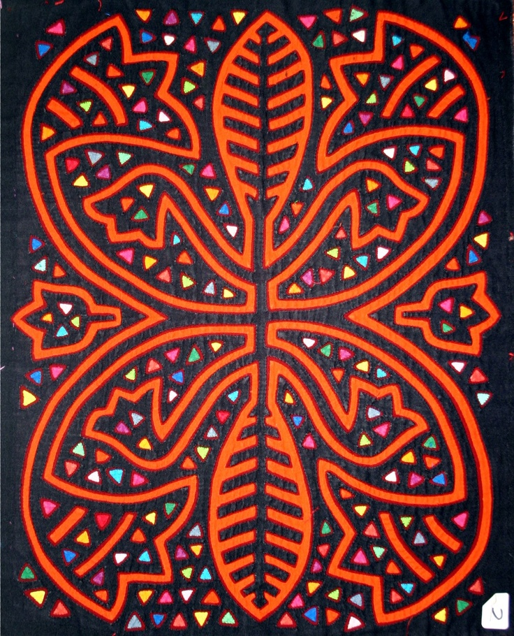 """Reverse applique called """"mola"""" by the kuna people of the San Blas islands on the Carribean coast of Panama."""
