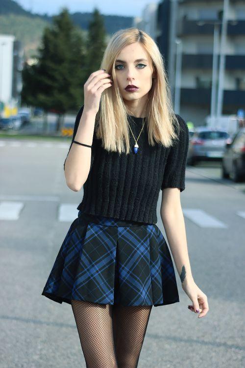 The Black Effect - Soft grunge fashion model http://LuckyMelli.com