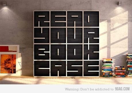 wanna have a book case like this...if only i had the room for it..